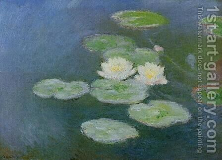 Water Lilies  Evening Effect by Claude Oscar Monet - Reproduction Oil Painting