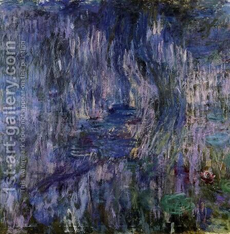 Water Lilies  Reflection Of A Weeping Willow61 by Claude Oscar Monet - Reproduction Oil Painting