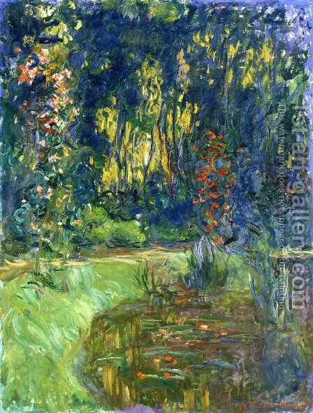 Water Lily Pond At Giverny by Claude Oscar Monet - Reproduction Oil Painting