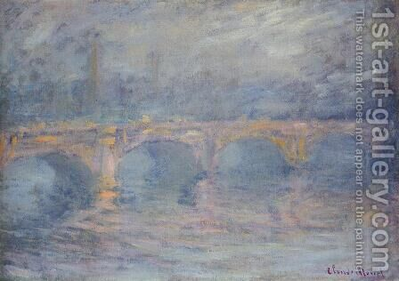Waterloo Bridge At Sunset  Pink Effect by Claude Oscar Monet - Reproduction Oil Painting