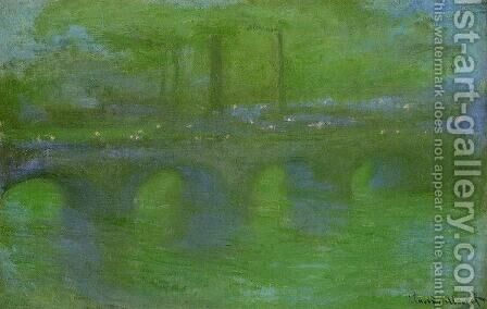 Waterloo Bridge  Dawn by Claude Oscar Monet - Reproduction Oil Painting
