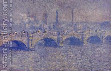 Waterloo Bridge  Sunlight Effect by Claude Oscar Monet - Reproduction Oil Painting