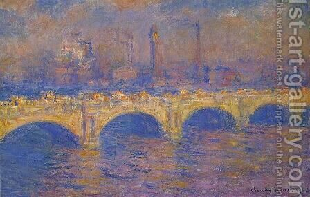 Waterloo Bridge  Sunlight Effect3 by Claude Oscar Monet - Reproduction Oil Painting