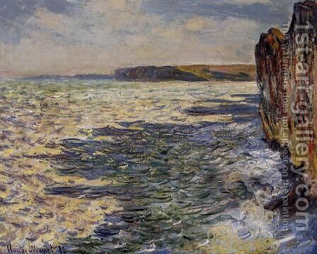 Waves And Rocks At Pourville by Claude Oscar Monet - Reproduction Oil Painting
