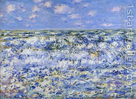Waves Breaking by Claude Oscar Monet - Reproduction Oil Painting