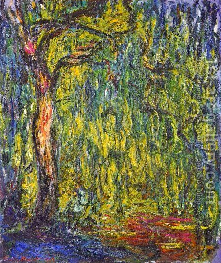 Weeping Willow by Claude Oscar Monet - Reproduction Oil Painting