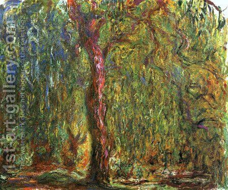Weeping Willow6 by Claude Oscar Monet - Reproduction Oil Painting
