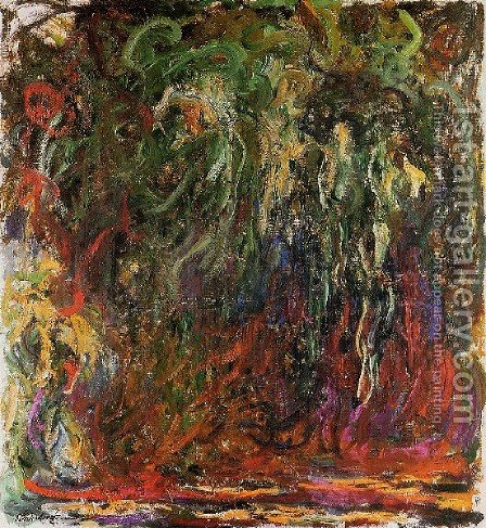Weeping Willow  Giverny by Claude Oscar Monet - Reproduction Oil Painting