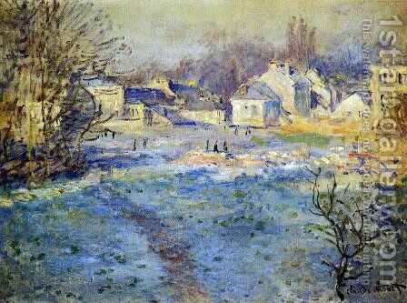 White Frost by Claude Oscar Monet - Reproduction Oil Painting