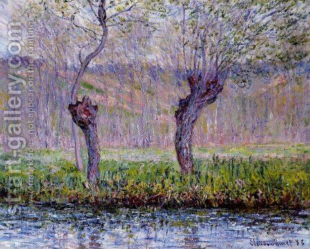 Willows In Springtime by Claude Oscar Monet - Reproduction Oil Painting