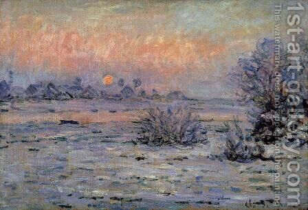Winter Sun  Lavacourt2 by Claude Oscar Monet - Reproduction Oil Painting