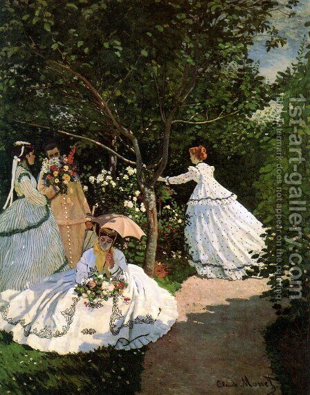 Women In The Garden by Claude Oscar Monet - Reproduction Oil Painting