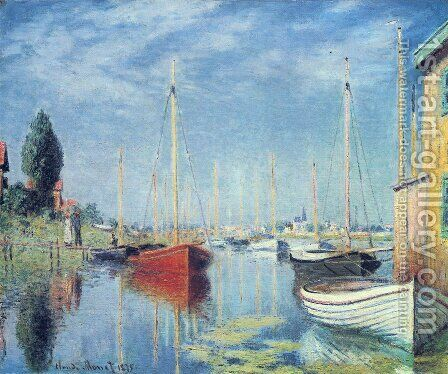 Yachts At Argenteuil by Claude Oscar Monet - Reproduction Oil Painting