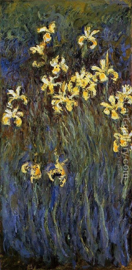 Yellow Irises by Claude Oscar Monet - Reproduction Oil Painting