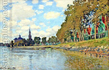 Zaandam by Claude Oscar Monet - Reproduction Oil Painting