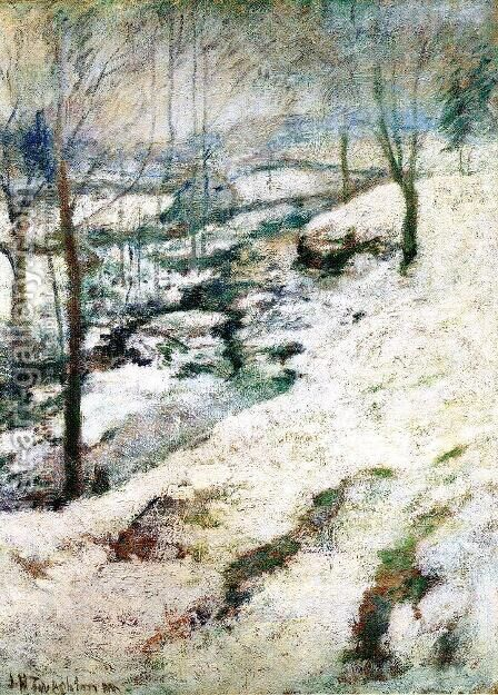 Frozen Brook by John Henry Twachtman - Reproduction Oil Painting