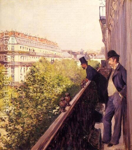 A Balcony by Gustave Caillebotte - Reproduction Oil Painting