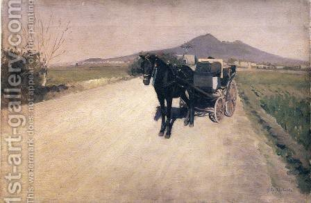 A Road Near Naples by Gustave Caillebotte - Reproduction Oil Painting