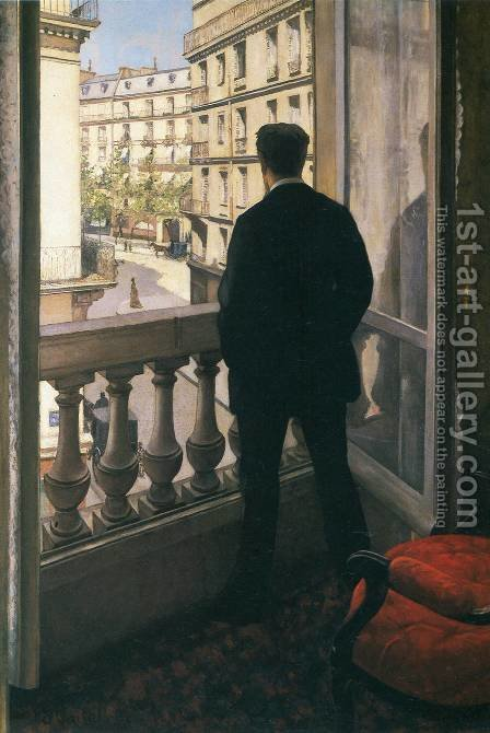 A Young Man At His Window by Gustave Caillebotte - Reproduction Oil Painting