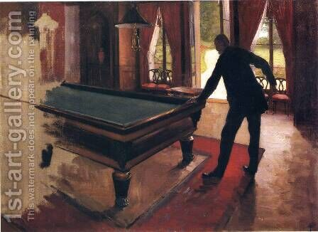 Billiards (unfinished) by Gustave Caillebotte - Reproduction Oil Painting