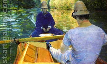 Boaters On The Yerres by Gustave Caillebotte - Reproduction Oil Painting