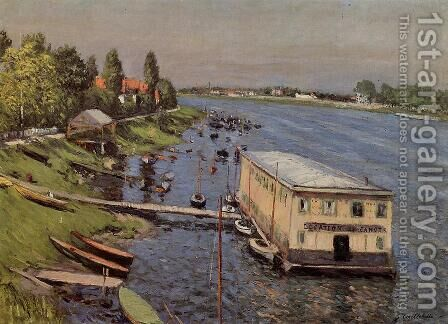 Boathouse In Argenteuil by Gustave Caillebotte - Reproduction Oil Painting