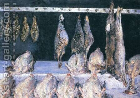 Display Of Chickens And Game Birds by Gustave Caillebotte - Reproduction Oil Painting