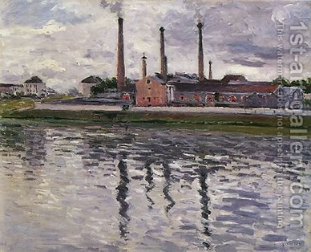 Factories At Argenteuil by Gustave Caillebotte - Reproduction Oil Painting