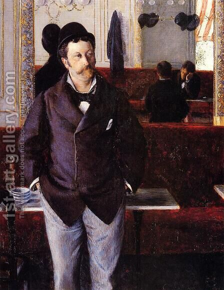 In A Cafe by Gustave Caillebotte - Reproduction Oil Painting