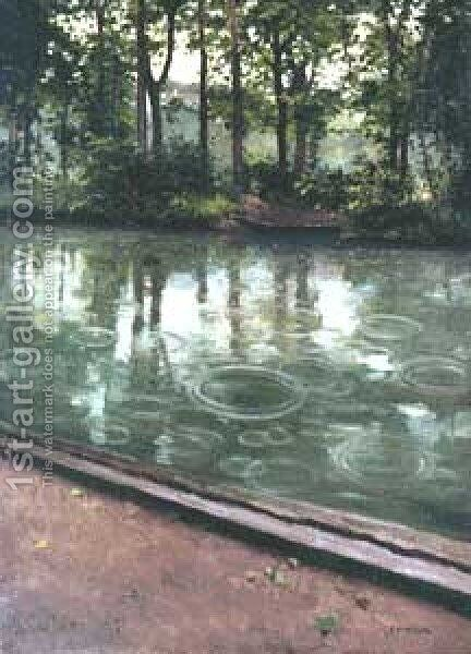 L Yerres by Gustave Caillebotte - Reproduction Oil Painting