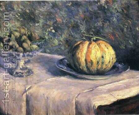 Melon And Bowl Of Figs by Gustave Caillebotte - Reproduction Oil Painting