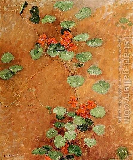 Nasturtiums2 by Gustave Caillebotte - Reproduction Oil Painting
