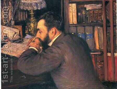 Portrait Of Henri Cordier by Gustave Caillebotte - Reproduction Oil Painting