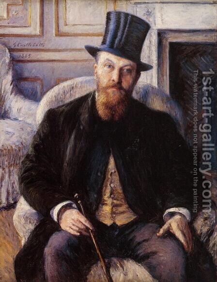 Portrait Of Jules Dubois by Gustave Caillebotte - Reproduction Oil Painting