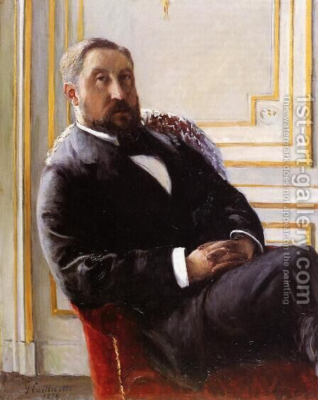 Portrait Of Jules Richemont by Gustave Caillebotte - Reproduction Oil Painting