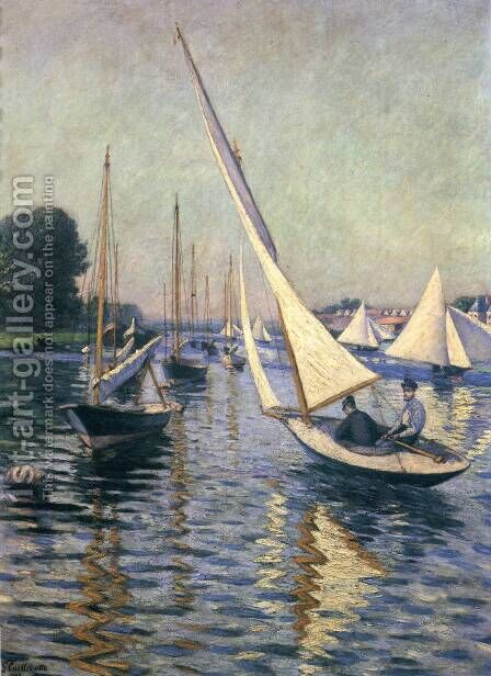 Regatta At Argenteuil by Gustave Caillebotte - Reproduction Oil Painting