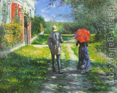 Rising Road by Gustave Caillebotte - Reproduction Oil Painting