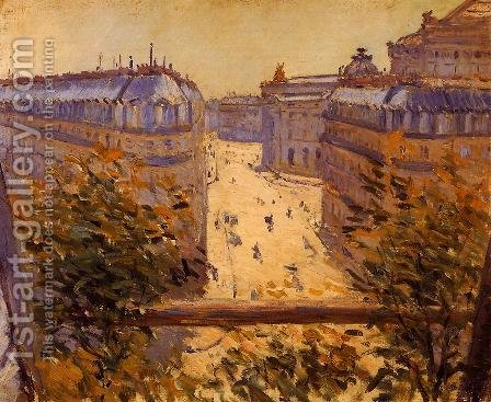 Rue Halevy  Balcony View by Gustave Caillebotte - Reproduction Oil Painting