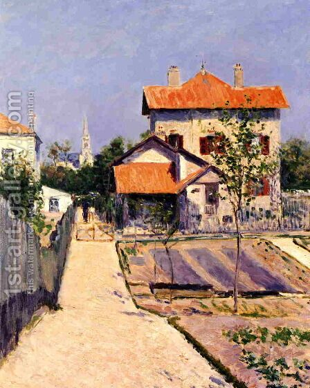 The Artists House At Petit Gennevilliers by Gustave Caillebotte - Reproduction Oil Painting