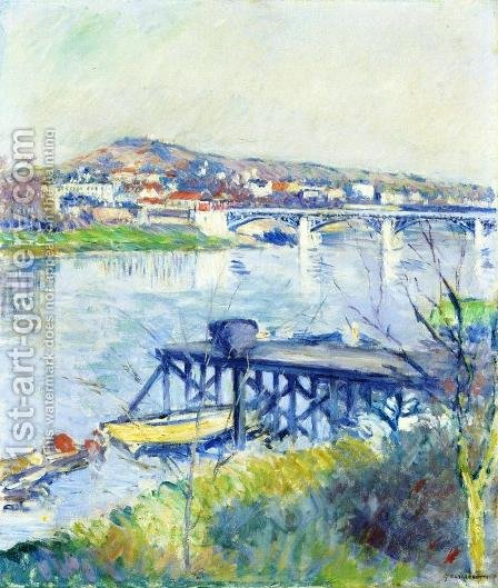 The Bridge At Argenteui by Gustave Caillebotte - Reproduction Oil Painting