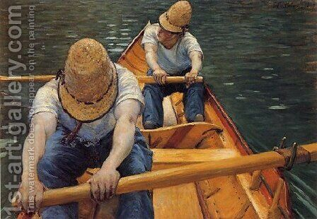 The Oarsmen by Gustave Caillebotte - Reproduction Oil Painting
