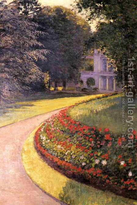The Park At Yerres by Gustave Caillebotte - Reproduction Oil Painting