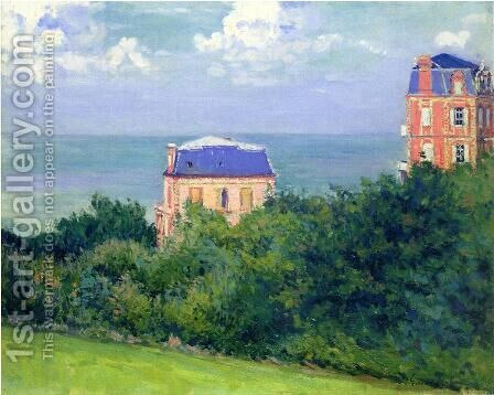 Villas At Villers Sur Mer by Gustave Caillebotte - Reproduction Oil Painting