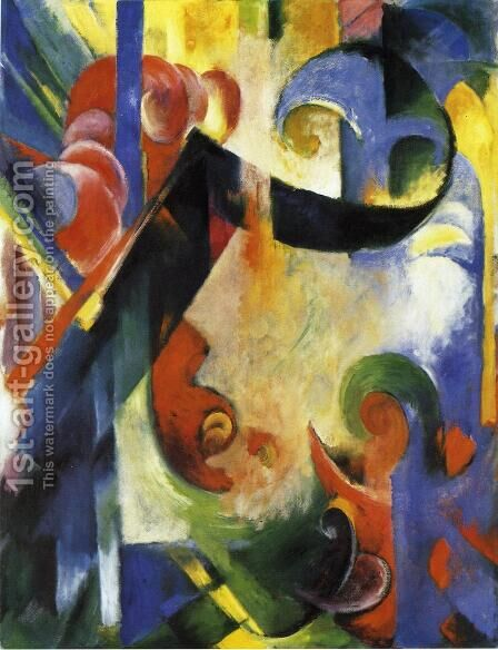 Broken Forms by Franz Marc - Reproduction Oil Painting