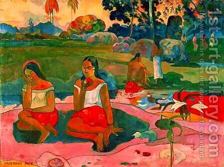 Miraculous Source by Paul Gauguin - Reproduction Oil Painting