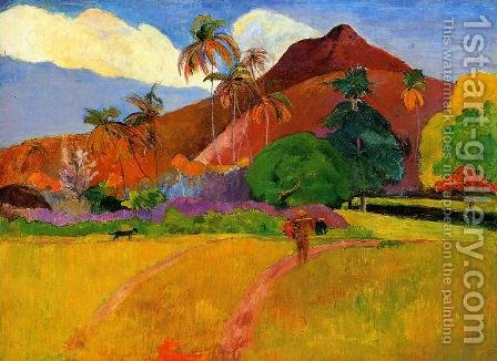 Mountains In Tahiti by Paul Gauguin - Reproduction Oil Painting