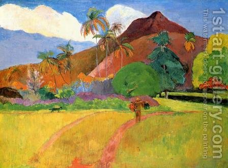 Tahitian Landscape2 by Paul Gauguin - Reproduction Oil Painting