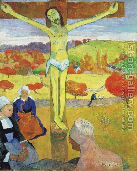 Yellow Christ by Paul Gauguin - Reproduction Oil Painting