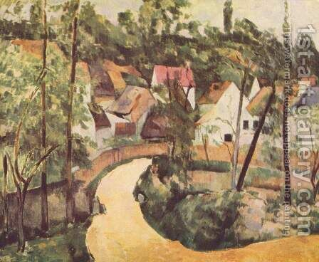 A Turn In The Road by Paul Cezanne - Reproduction Oil Painting
