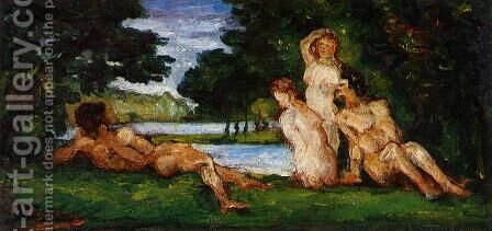 Bathers5 by Paul Cezanne - Reproduction Oil Painting